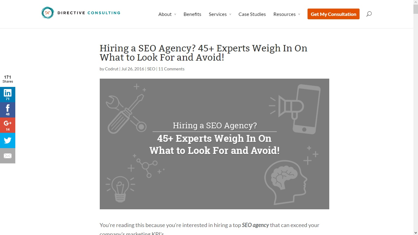 Experts Weigh In On Study Showing >> Hiring A Seo Agency 45 Experts Weigh In On What To Look For And Avoid